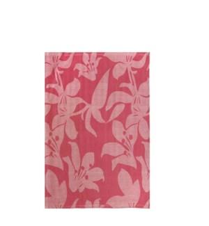 Lily Jacquard Single Kitchen Towel Raspberry