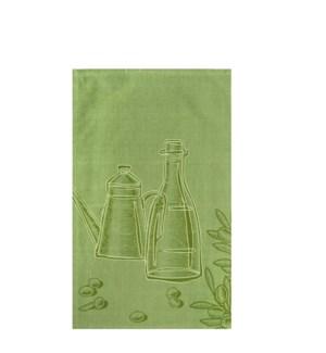 Oil and Vinegar Single Kitchen Towel Green