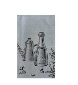 Oil and Vinegar Single Kitchen Towel Grey