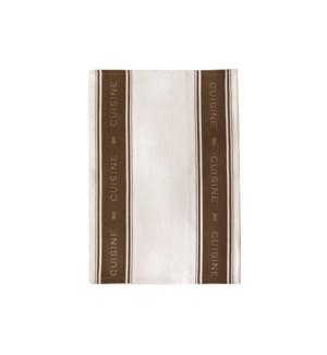 Cuisine Single Kitchen Towel Brown