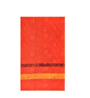 Jacquard Vine Single Kitchen Towel Burnt Orange