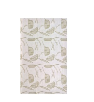 Jacquard Cuisine Single Kitchen Towel Taupe