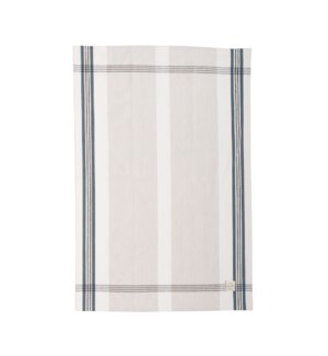 Box Check Single Kitchen Towel Denim