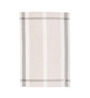 Box Check Single Kitchen Towel Grey