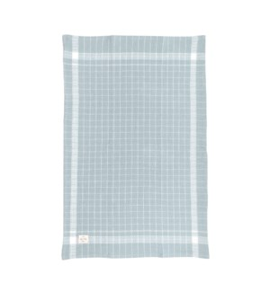 Box Check Waffle Single Kitchen Towel Dusty Aqua