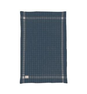Box Check Waffle Single Kitchen Towel Denim