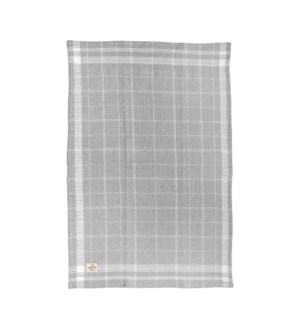 Box Check Waffle Single Kitchen Towel Grey