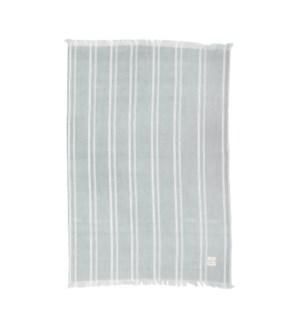 Indie Stripe Single Kitchen Towel Dusty Aqua