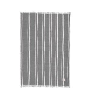 Indie Stripe Single Kitchen Towel Grey