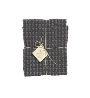 Soft Waffle Oversized Kitchen Towel Black