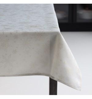 Elegant Snowflake Tablecloth 60 X 120 Metallic