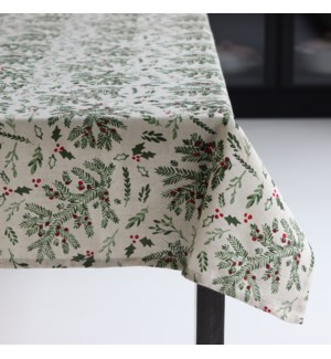 Holly Tablecloth 70 Rd Multi