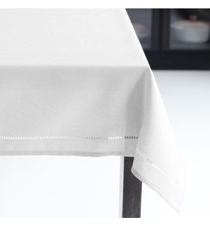 Linen Look Table Cloth 70 Round White