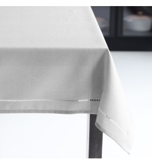 Linen Look Table Cloth 70 Round Light Grey