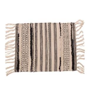 Santa Fe Stripe Woven Placemat Black