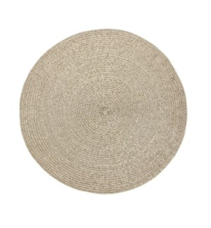 Holiday Metallic Round Placemat Gold