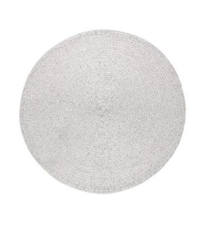 Holiday Metallic Round Placemat Silver