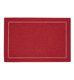 Linen Look Placemat Red