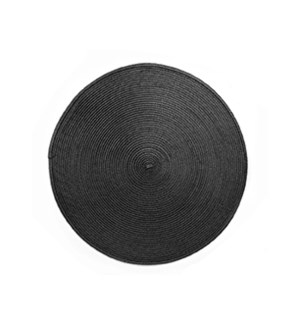 Rotunda Woven Placemat Black