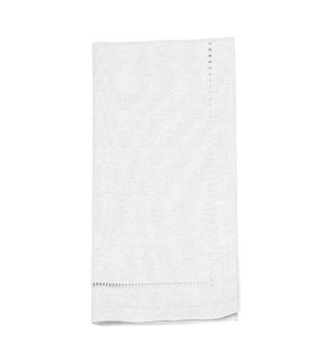 Linen Look Napkin Set Of 4 White