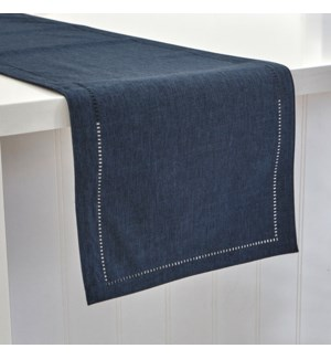 Linen Look Table Runner Navy