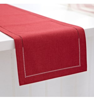 Linen Look Table Runner Red