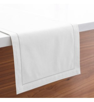 Linen Look Table Runner White