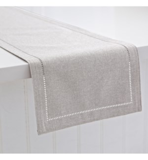 Linen Look Table Runner Light Grey