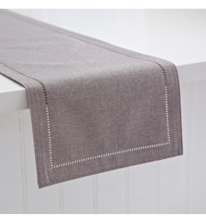Linen Look Table Runner Grey