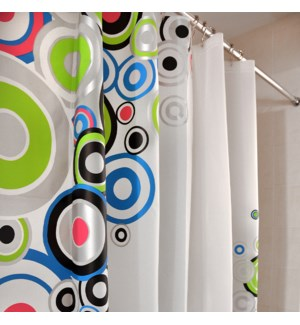Circles Shower Curtain Multi