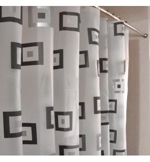 Cubes Shower Curtain Black