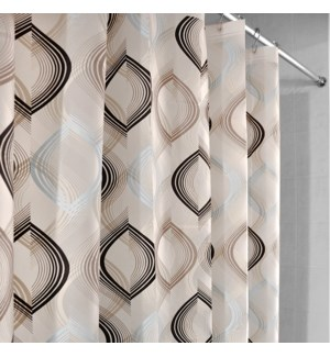 Azaria Shower Curtain Brown