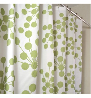 Bud Shower Curtain Green