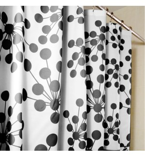Bud Shower Curtain Black