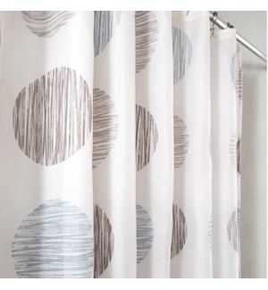 Sunset Circle Shower Curtain Tan