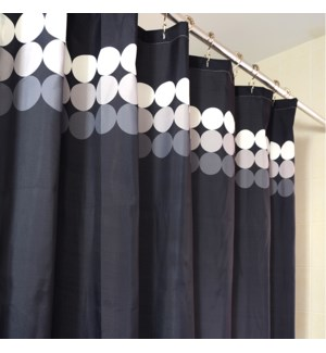 Verge Shower Curtain Black