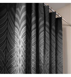 Peacock Shower Curtain Black