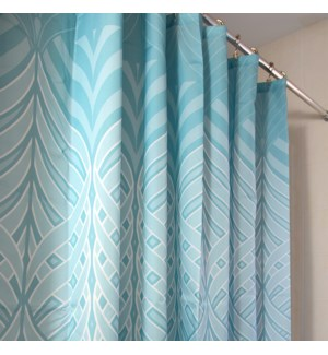 Peacock Shower Curtain Aqua