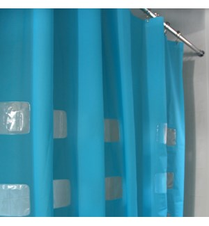 Window Shower Curtain Blue