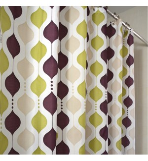 Moroccan Wave Shower Curtain Eggplant