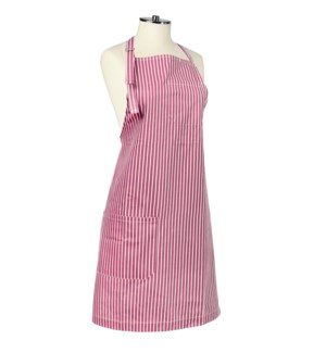 Tuscan Stripe Woven Chef Apron Red