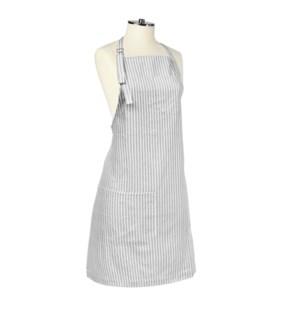 Tuscan Stripe Woven Chef Apron Grey