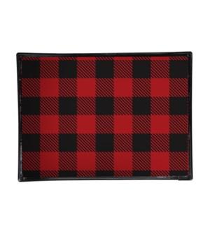 Buffalo Check Printed Serving Tray Black/Red