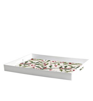 Holly Printed Serving Tray Multi