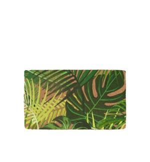 Palm Printed Coir Mat  Green
