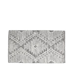 Diamond Tweed Wool Woven Accent Rug Multi