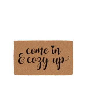 Come In and Cozy Up Printed Coir Mat Black