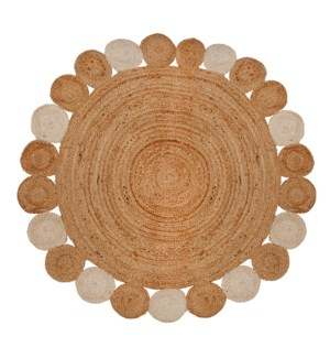 Blossom Round Floor Rug 48D Natural