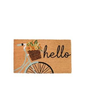 Hello Bicycle Coir Mat Multi