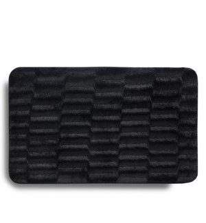 Faux Fur Accent Mat Black